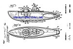 Click here to enlarge image and see more about item MPAT041408A7: Patent Art: 1950s TOY SUBMARINE - matted