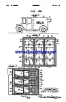 Click here to enlarge image and see more about item MPAT042108A6: Patent Art: 1930s MILK TRUCK - matted