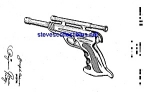 Click here to enlarge image and see more about item MPAT042108B8: Patent Art: Nice 1940s TOY PISTOL