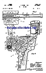 Click here to enlarge image and see more about item MPAT042108B9: Patent Art: 1960s Agent Zero MOVIE CAMERA-GUN Toy