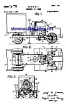 Click here to enlarge image and see more about item MPAT050508C6: Patent Art: 1950s Steerable Toy Truck