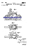 Click here to enlarge image and see more about item MPAT050508C9: Patent Art: 1950s Motorcycle Toy