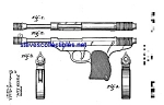 Click here to enlarge image and see more about item MPAT050508D3: Patent Art: 1940s Toy Pistol