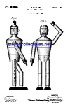 Click here to enlarge image and see more about item MPAT051208A1: Patent Art: 1930s Robot Toy