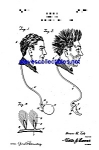 Click here to enlarge image and see more about item MPAT051208A9: Patent Art: 1920s Comical Novelty Wig Jokeshop