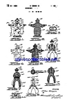 Click here to enlarge image and see more about item MPAT051208C9: Patent Art: 1950s Cowboy Circus Clown Toy