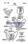 Click here to enlarge image and see more about item MPAT051208D1: Patent Art: 1940s Laying Hen Mechanical Toy