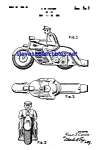 Click here to enlarge image and see more about item MPAT051208D2: Patent Art: 1950s Police Motorcycle Whistle Toy