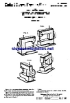 Click here to enlarge image and see more about item MPAT060908C2: Patent Art: 1950s Toy Sewing Machine