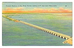 1954 Oversea Highway to KEY WEST, FLORIDA Postcard