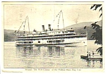 Click here to enlarge image and see more about item MPC121206C1: 1939 STEAMER De Witt Clinton HUDSON RIVER DAY LINE PC