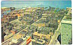 Click here to enlarge image and see more about item MPC121206C3: 1959 AERIAL VIEW Cleveland Ohio COCA COLA Postcard