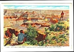Click here to enlarge image and see more about item MPC121206E8: 1936 Fred Harvey GRAND CANYON Arizona Postcard