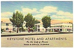 Click here to enlarge image and see more about item MPC121206F6: 1950s KEYSTONE HOTEL Pass-A-Grille Florida Postcard