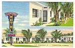 1950s CLEWISTON MOTEL, Clewiston Florida Postcard