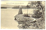 1955 NEWFOUND LAKE Lighthouse N.H. Linen Postcard