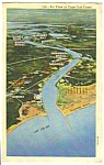 1955 AIR VIEW of Cape Cod Massachusetts Linen Postcard