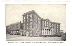 1950s WIGGINS OLD TAVERN & HOTEL NORTHAMPTON Postcard C
