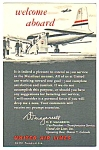 Click here to enlarge image and see more about item MPC121206J5: 1950s UNITED AIRLINES Welcome Aboard Card