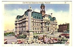 1950 CITY HALL & BONSECOURS MARKET, Montreal Canada PC