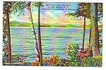 1949 LAKE GEORGE, New York Postcard