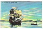 1949 MAYFLOWER Plymouth Massachusetts Linen Postcard