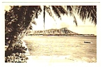 Vintage DIAMOND HEAD Honolulu Hawaii RPPC Postcard