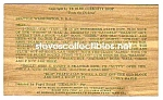 Click here to enlarge image and see more about item MPC121406G8: 1952 State of Washington EVERGREEN WOODEN Postcard