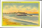 1941 HAMPTON BEACH, New Hampshire Linen Postcard