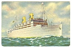 Click here to enlarge image and see more about item MPC121806A5: 1938 Swedish American Liners KUNGSHOLM 2 Postcard