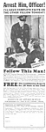Click here to enlarge image and see more about item MPO030707E4: 1937 SECRET SERVICE TRAINING Mag. Ad