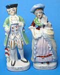 Click here to enlarge image and see more about item MPOT102507A1: Pair of Vintage COLONIAL FIGURINES - Japan