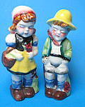 Click here to enlarge image and see more about item MPOT102507C1: Pair of Vintage CHILDREN FIGURINES - Japan