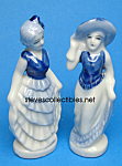 Click here to enlarge image and see more about item MPOT102507Z1: Pair of Vintage GLAMOROUS FIGURINES - Japan