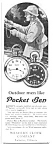 Click here to enlarge image and see more about item MPW031207D8: 1927 POCKET BEN Westclox Watch Ad