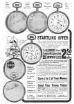 Click here to enlarge image and see more about item MPW122106F1: 1918 SANTA FE Illinois Pocket Watch Ad