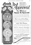 1927 SANTA FE Special Pocket Watch Ad