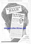 Click here to enlarge image and see more about item MQU010407G8: 1927 QUACK BALDNESS CURE Magazine Ad L@@K!