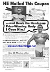 Click here to enlarge image and see more about item MQU030707E2: 1944 CHARLES ATLAS® Muscle/Physique Ad