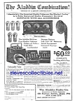 1925 ALADDIN RADIO COMBINATION Radio Ad