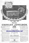 1928 CROSLEY JEWELBOX RADIO Magazine Ad L@@K!