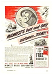 Click here to enlarge image and see more about item MRA040306E7: 1943 WWII MIDWEST RADIO Mag. Ad
