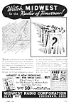 Click here to enlarge image and see more about item MRA050406B9: 1943 MIDWEST RADIO  - WWII Magazine Ad L@@K!