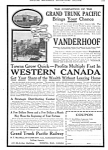 Click here to enlarge image and see more about item MRR030507D4: 1914 GRAND TRUNK PACIFIC RAILWAY Vanderhoof AD