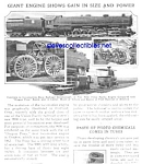 1927 GIANT LOCOMOTIVE - TRAIN - RAILROAD Mag. Article