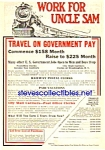 Click here to enlarge image and see more about item MRR122106D5: 1926 RAILWAY - Railroad POSTAL CLERK Ad