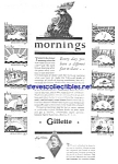 Click here to enlarge image and see more about item MSHV030707F5: 1929 GILLETTE SAFETY RAZOR - Shaving Ad