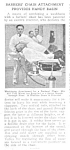 Click here to enlarge image and see more about item MSHV030707H4: 1920 BARBER SHOP CHAIR  Magazine Article