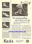 1924 KEDS Sneakers TENNIS THEMED Magazine Ad