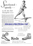 Click here to enlarge image and see more about item MSP030707D5: 1924 KEDS Sneakers BASEBALL THEMED Magazine Ad